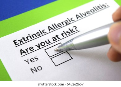 Extrinsic allergic alveolitis : are you at risk? yes or no