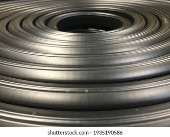 extruded rubber profile in stock area