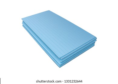 Extruded styrofoam on a white background,Extruded styrofoam sheet is isolated on a white background