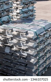 Extrusion billets of aluminium. Further purification can be done by the Hoopes process. This process involves the electrolysis of molten aluminium.