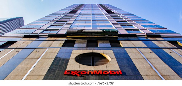 Exxon Mobil corporate sign outside of their headquarters in the Asia-Pacific, Kuala Lumpur, Malaysia, circa November, 2017