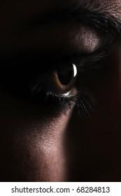 eye beautiful woman closeup