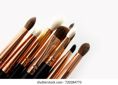 Eye Brush background / eye shadow brushes and eye liner brushes to create the perfect eye look