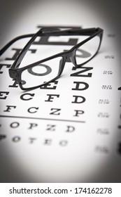 Eye Chart and Glasses