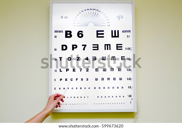 Eye Chart Medical Clinic Eye Chart Stock Photo (Edit Now
