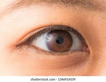 Eye close-up of asian women