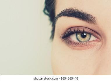 eye detail macro shot background