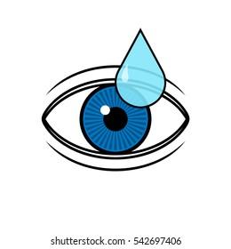 Eye drop applies to eye icon