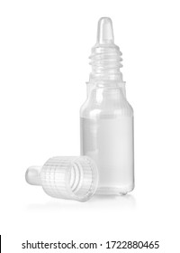 Eye drop bottle isolated on white background, with clipping path
