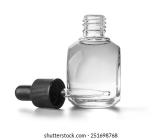 Eye Dropper Bottle Isolated with clipping path on a white background