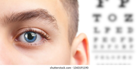 Eye eyesight ophthalmology test and vision health care,  medicine sight.