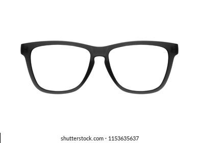 Eye glasses frame black isolated on white background