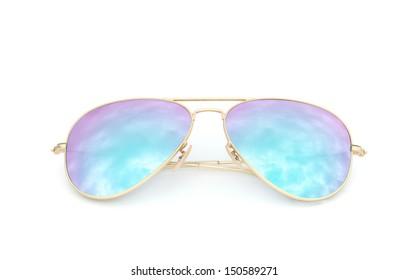 bee5fda29b372 Vector Cartoon Pink Aviator Sunglasses Metal Stock Vector (Royalty ...