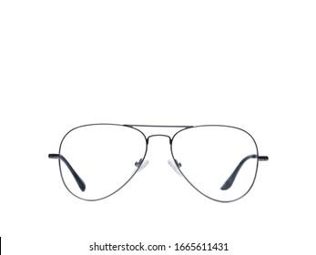 Eye glasses isolated on white background black modern