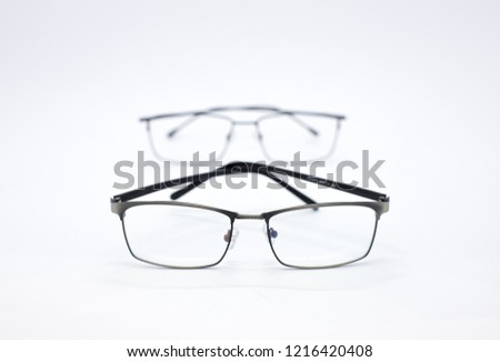f8a1b9ab01db Eye glasses isolated on a white background. Modern style eyeglasses. Few  glasses. Many