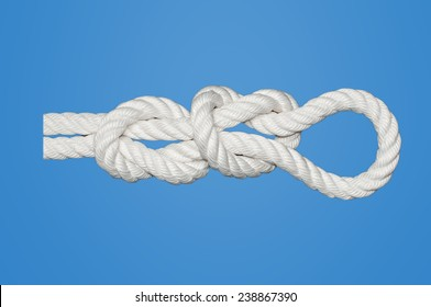 Fisherman�´s Eye Knot also known as Middleman,Englishman or True Lover�´s Knots