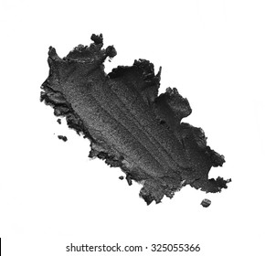Eye liner make up in abstract shape on background