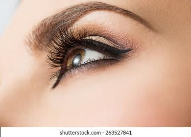 Eye Makeup close up
