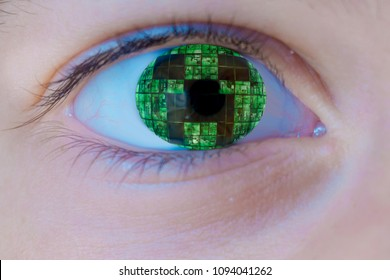 The eye of the minecraft player