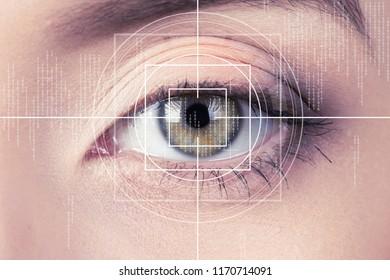 Eye monitoring scanner virtual reality health digital.