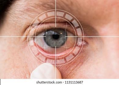 Eye monitoring virtual reality health