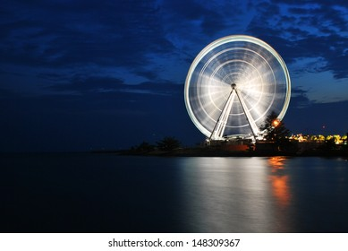 Eye on Malaysia in a Blue Hour