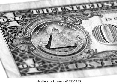 Eye of Providence on one USA dollar bill