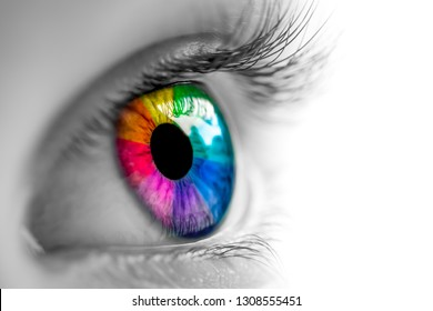 Eye With Rainbow Colors
