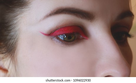 eye with a red liner