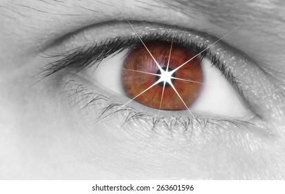 Eye shining