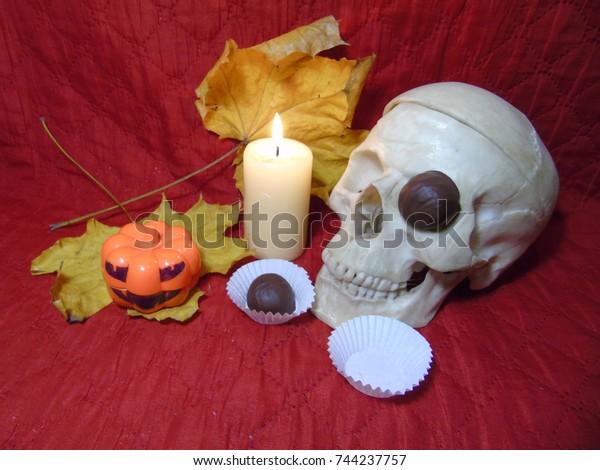 Eye Socket Skull Candy Inserted One Stock Photo (Edit Now