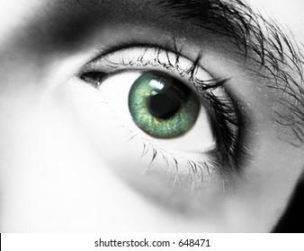 eye, some film grain