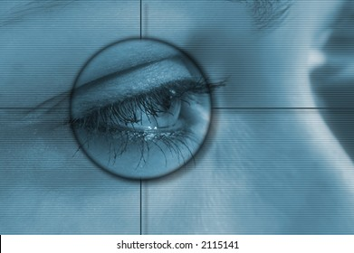 Eye tech background