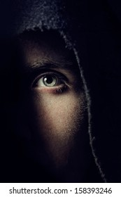 Eye of terrible man