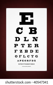 Eye test letter poster