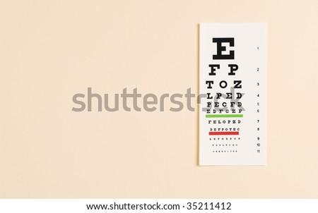 Eye Testing Eye Exam Chart Stock Photo Edit Now 35211412