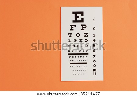 Eye Testing Eye Exam Chart Stock Photo Edit Now 35211427