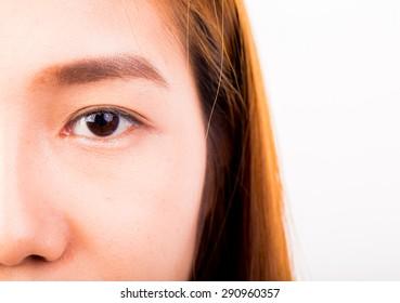 eye of thai girl in studio - Shutterstock ID 290960357