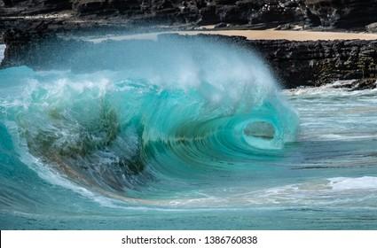 Eye of the wave, Sandy Beach, Oahu, Hawaii