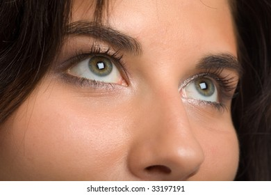 eye of the young beautiful woman