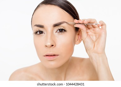 Thin Eyebrows Images, Stock Photos & Vectors