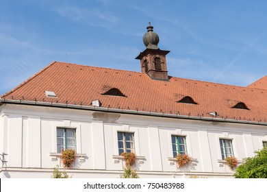 Eyebrow Windows in Roof of Building in the old European Town of Szentendre Hungary