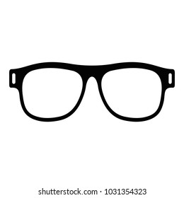 Eyeglasses with diopters icon. Simple illustration of eyeglasses with diopters  icon for web