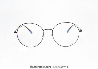eyeglasses frame isolated on white background.
