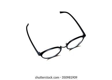 eyeglasses isolate on white