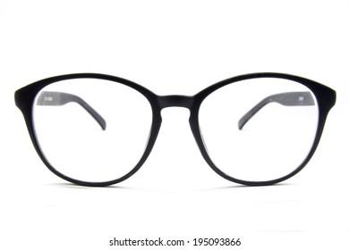 Eyeglasses isolated on white background, accessory object.
