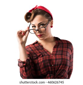 Eyeglasses pin-up style