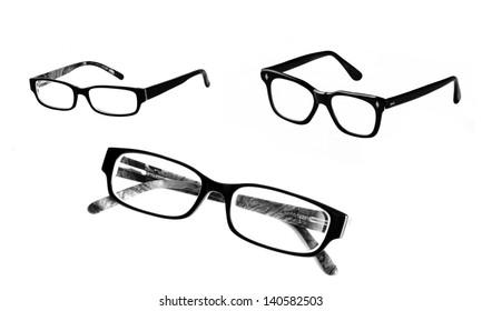 Eyeglasses set, isolated