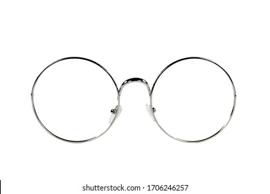 Eyeglasses/Round glasses isolated on white background with clipping path.