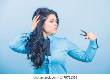 Eyelash extension tweezer. Professional makeup artist. Cosmetic tweezer tool. Beauty shop concept. Girl makeup face hold tweezer for eyelash extension. Makeup false lashes volume. Lash applicator.